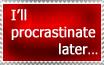 Procrastination stampeh by Porridges