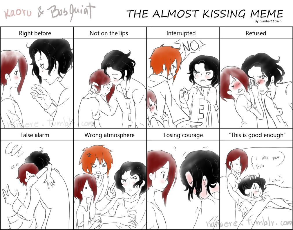 Almost kissing meme by nanaere