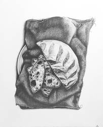 Sliced Bread Drawing by djn00