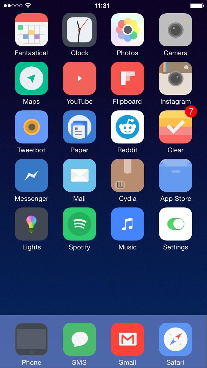 First iOS 8 Screenshot by theBassment
