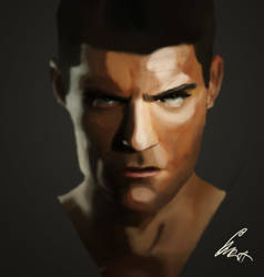 Spartacus face concept by RobertoAGM