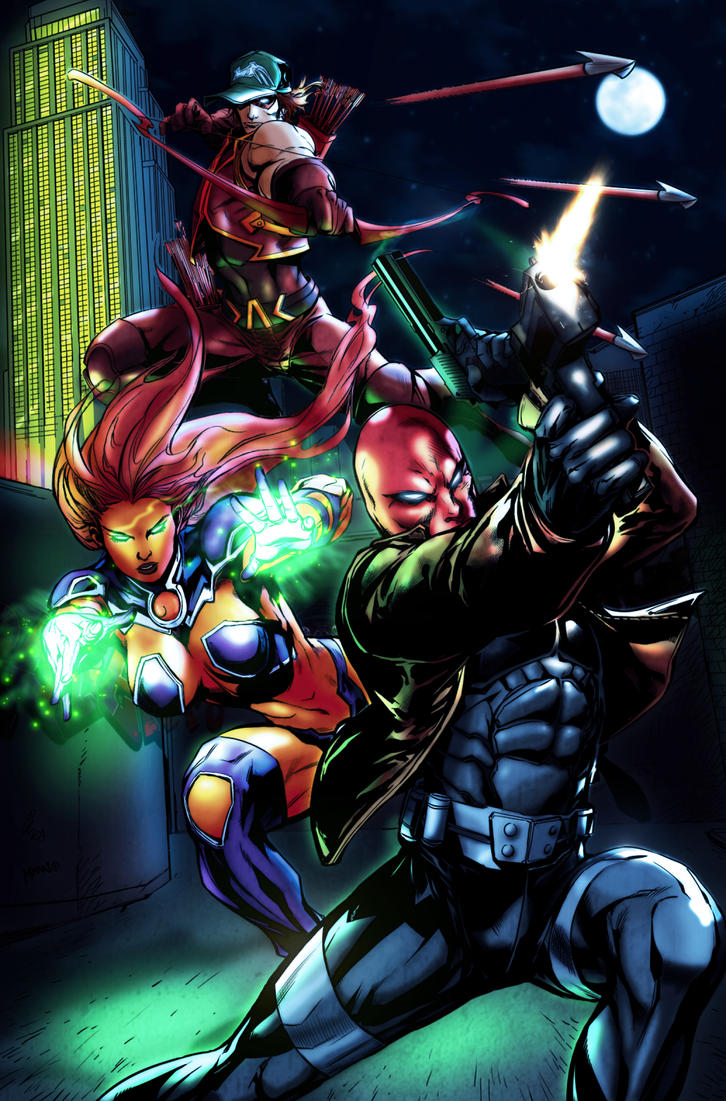 Redhood and the outlaws by robertoagm on deviantart - Hood cartoon wallpaper ...
