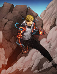 Genos won't hold back! by RobertoAGM