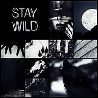 Black wolf kin moodboard.