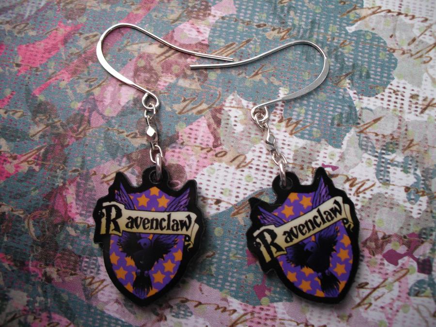 Ravenclaw Earrings by AriesNamarie
