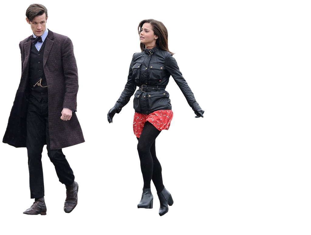 Jenna Coleman And Matt Smith Png By Ofwonderlands On