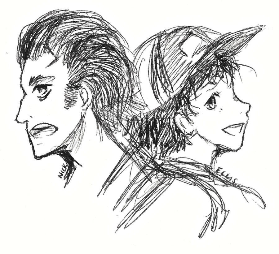 Nick and Ellis Quick Sketch by TouchMySitar
