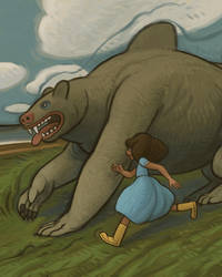 Anna Runs with Seawolf by atomicman