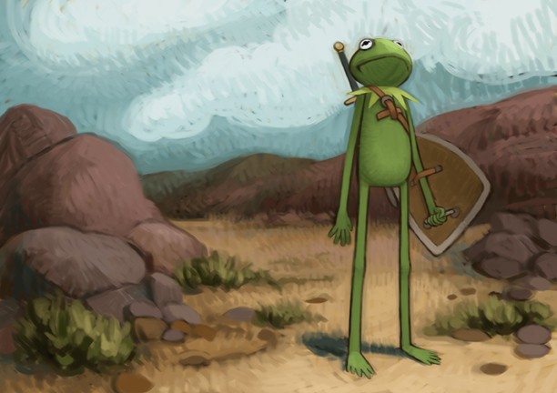 Kermit on a Quest by atomicman