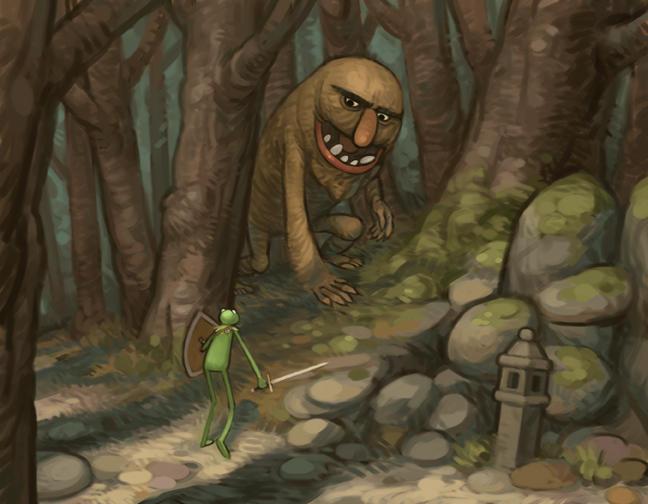 Kermit meets a Monster