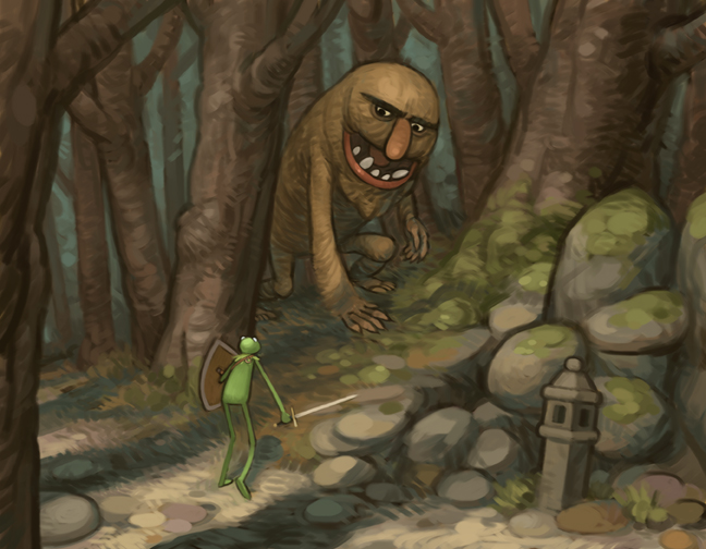 Kermit meets a Monster by atomicman