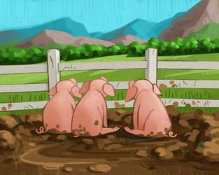 Three Pigs by atomicman