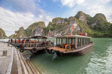 The Boats in Ha Long Bay
