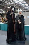 Discworld cosplay (Death and Susan from Hogfather)