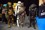 Predator, Alien, Machiko and Stormtrooper