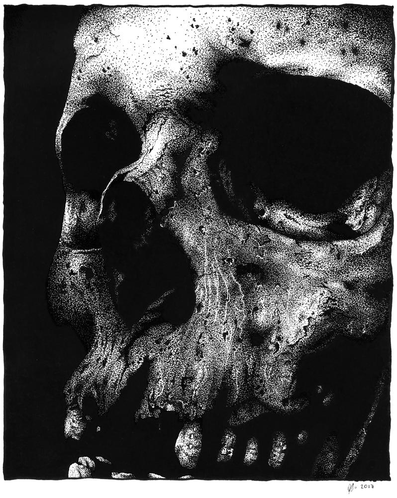 Pointillism Skull by Blkskl