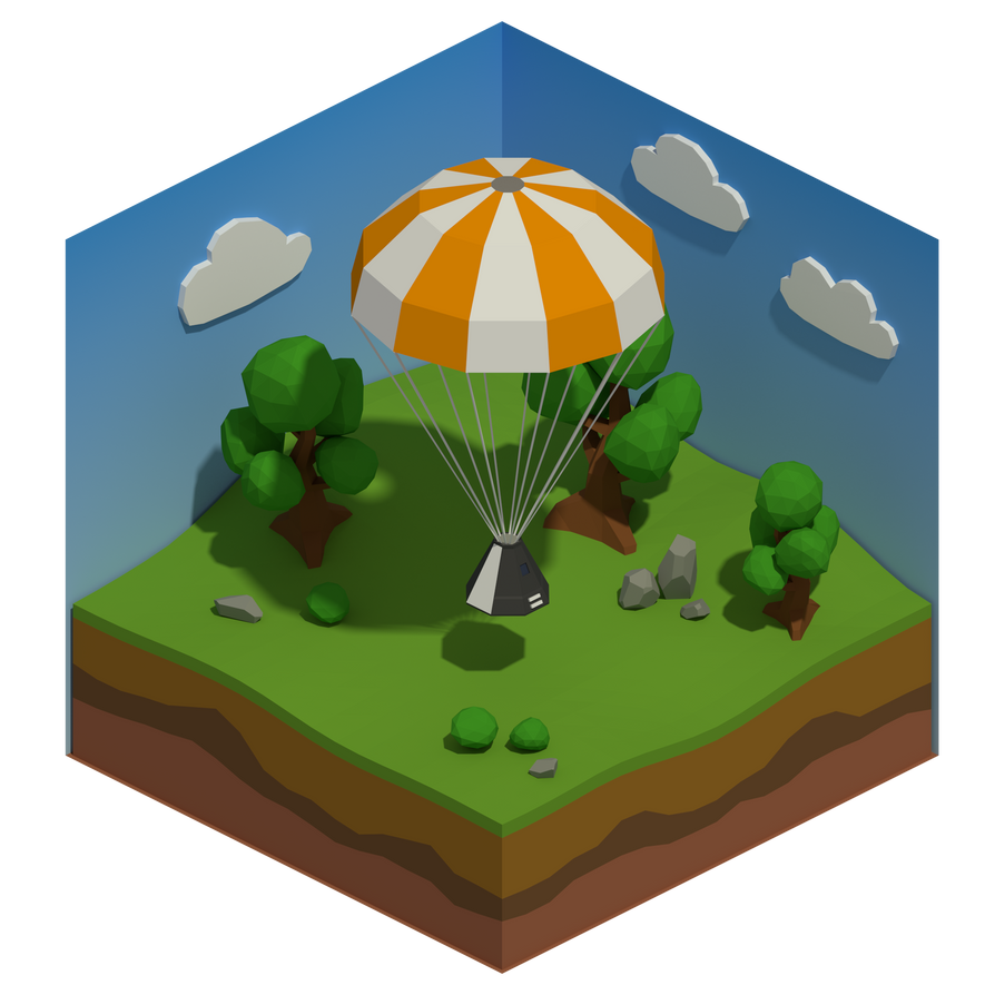 Back Home - low-poly diorama by Ruiorven