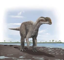 muttaburrasaurus-like dinosaur