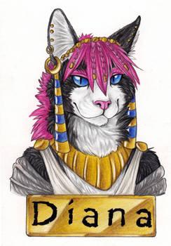 Animalia Romana Badge-Diana