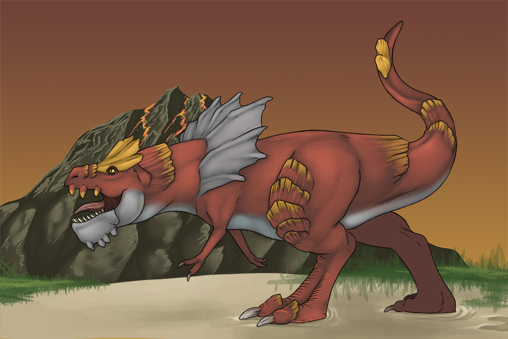 Tyrantrum by Kitsune-Nyx