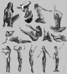 Figure sketches 02 by tgconceptart