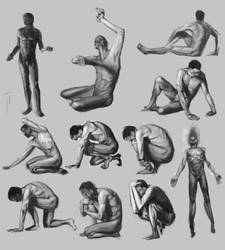 Figure sketches 03 by tgconceptart