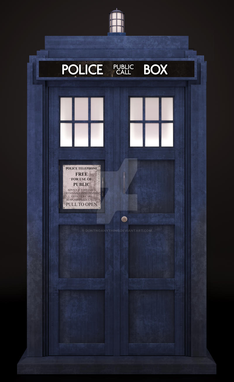 Tardis Front by DontNoAnything