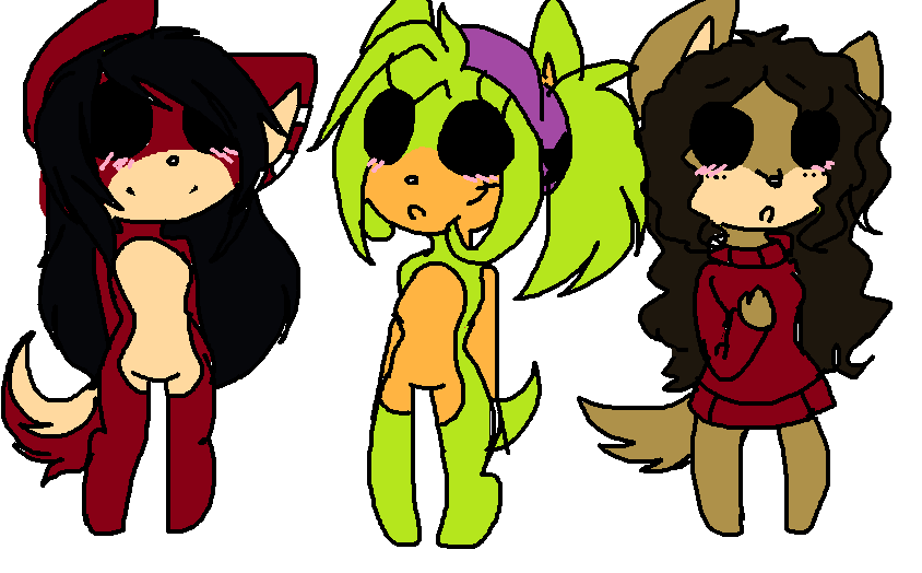Chibi adopts 4 by xXrosethehedgehogXx