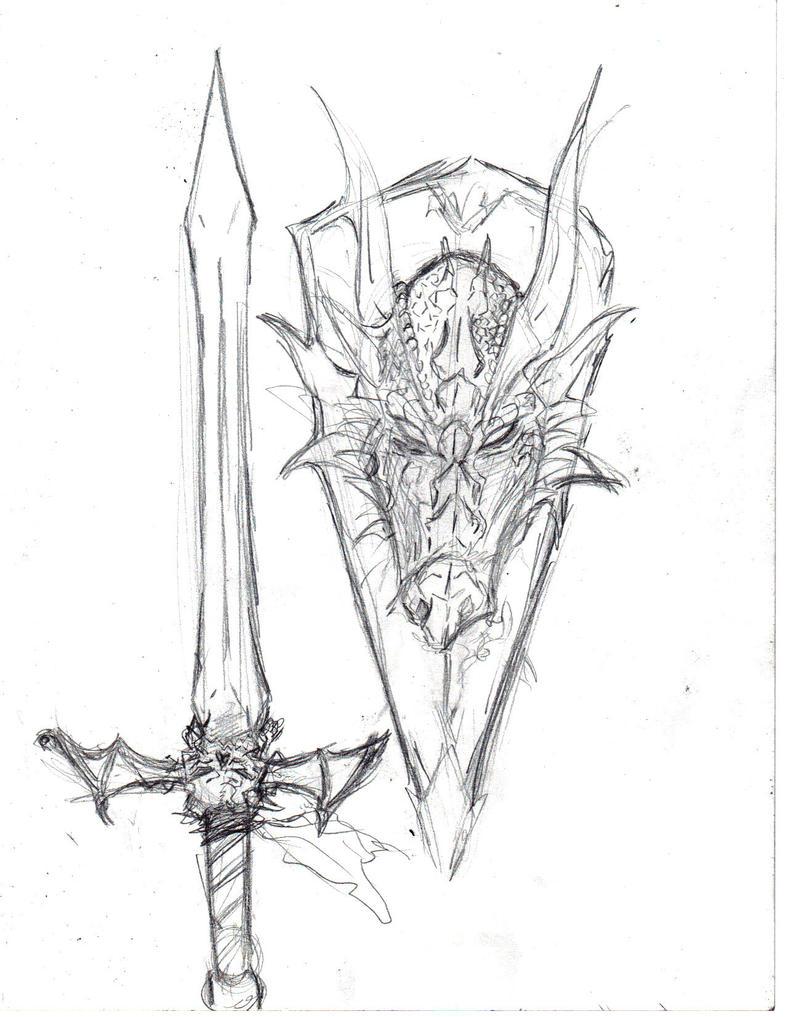 Sir Geofrey rolf's sword and shield by jesusjr