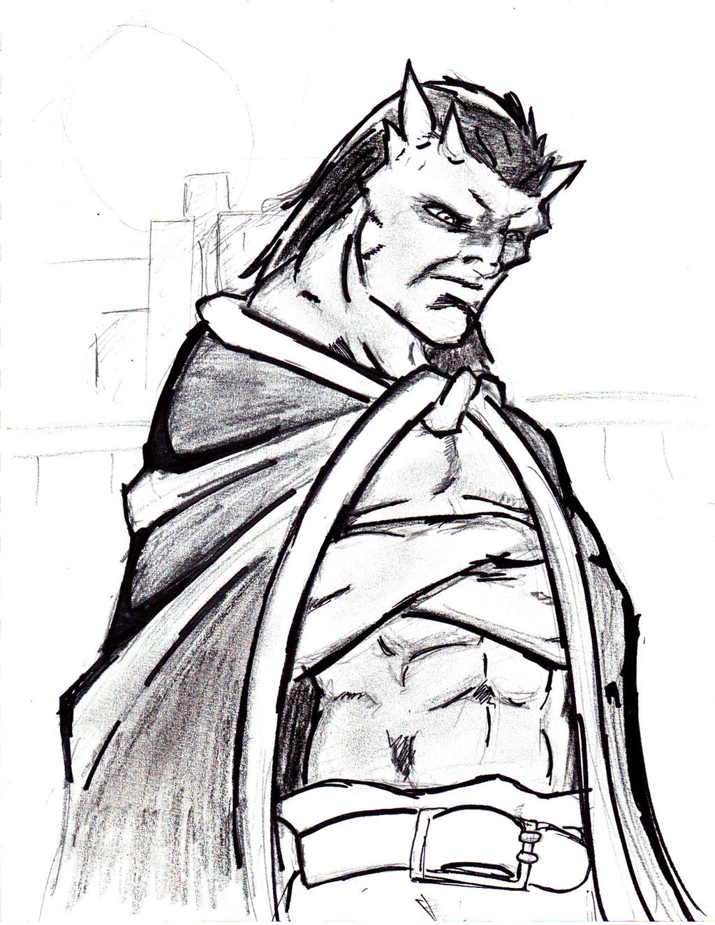 Goliath from gargoyles fanart by jesusjr