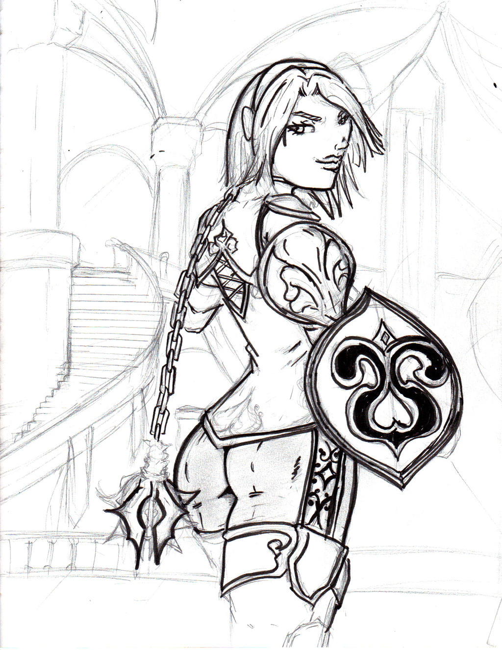 a redesign of Cassandra from soul calibur by jesusjr