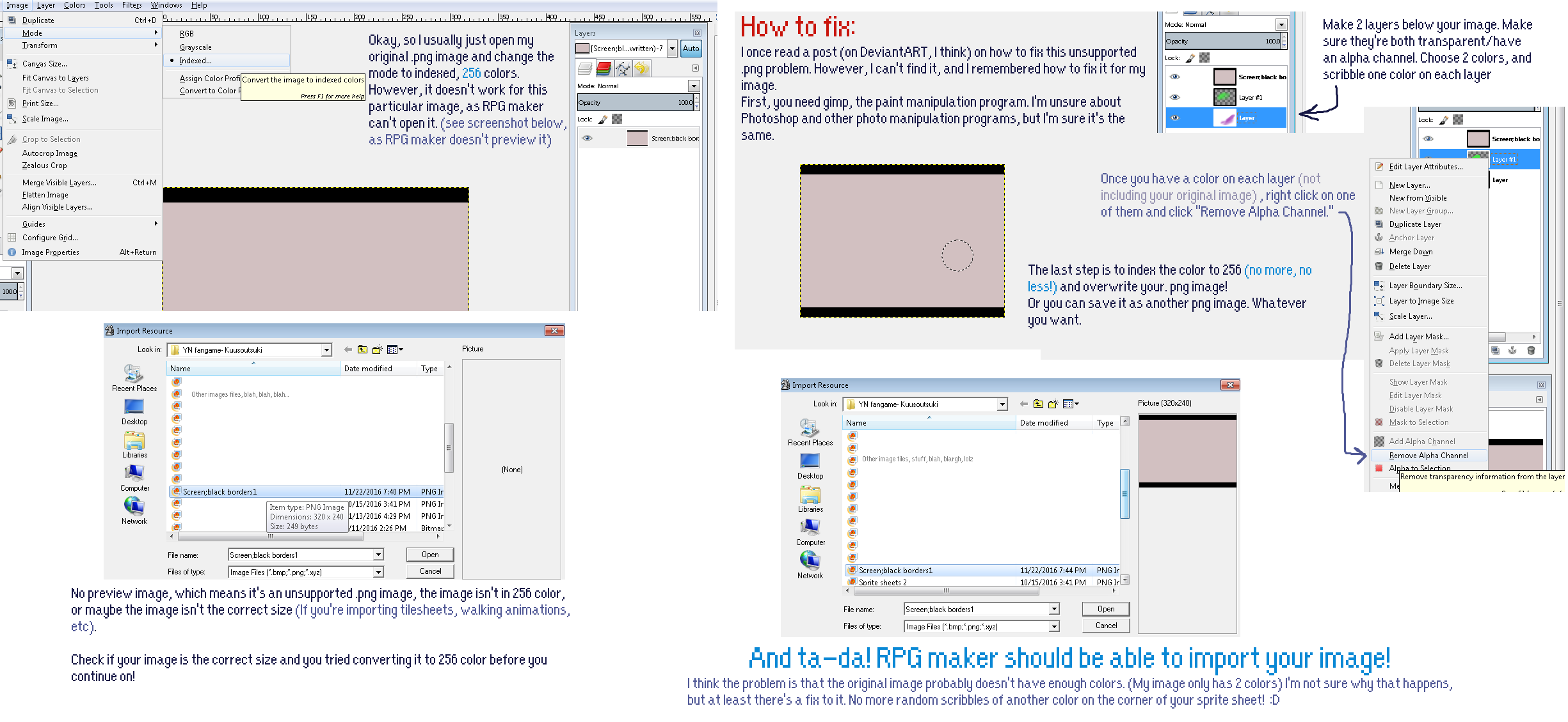 RPG maker 2003- unsupported png image FIX by MacandBloo101