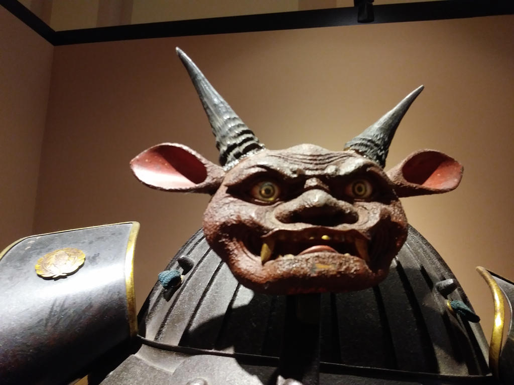 top of samurai helmet by AHSHITTHISSUCKS