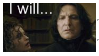 I will... Severus Snape Stamp by Odogoo