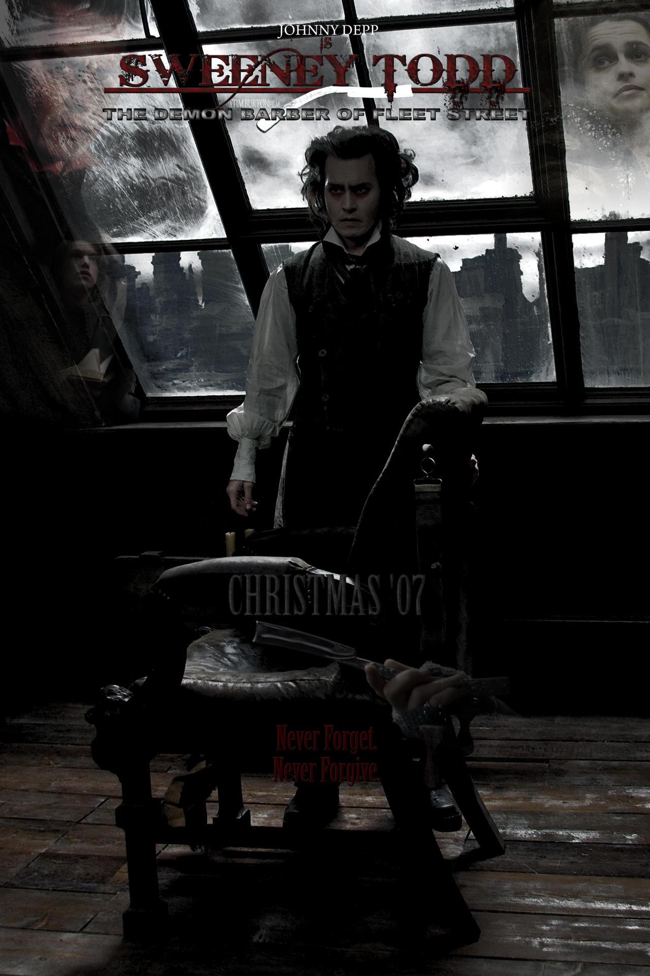 sweeney todd movie poster by skrobo on deviantart