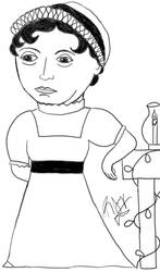 Jane Austen Chibi