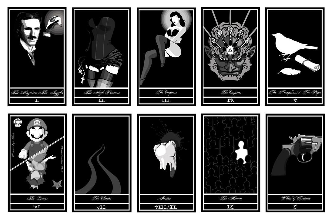 Line Art Card Design : Tarot card design by bencebalaton on deviantart