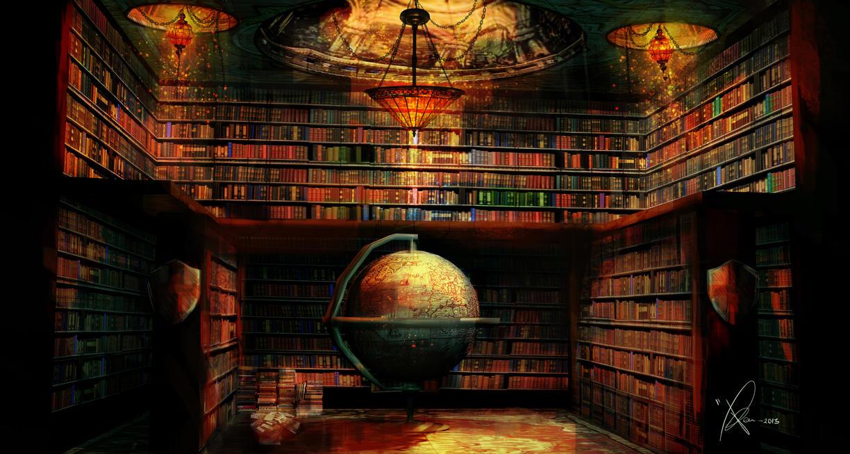 desktop wallpaper books library