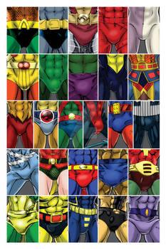 Superhero ABC's - Men