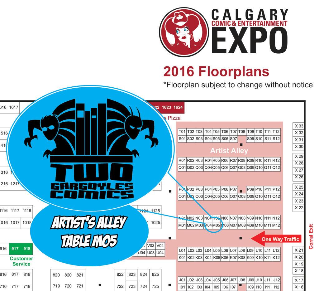 Calgary Expo 2016 Floorplan by twogargs