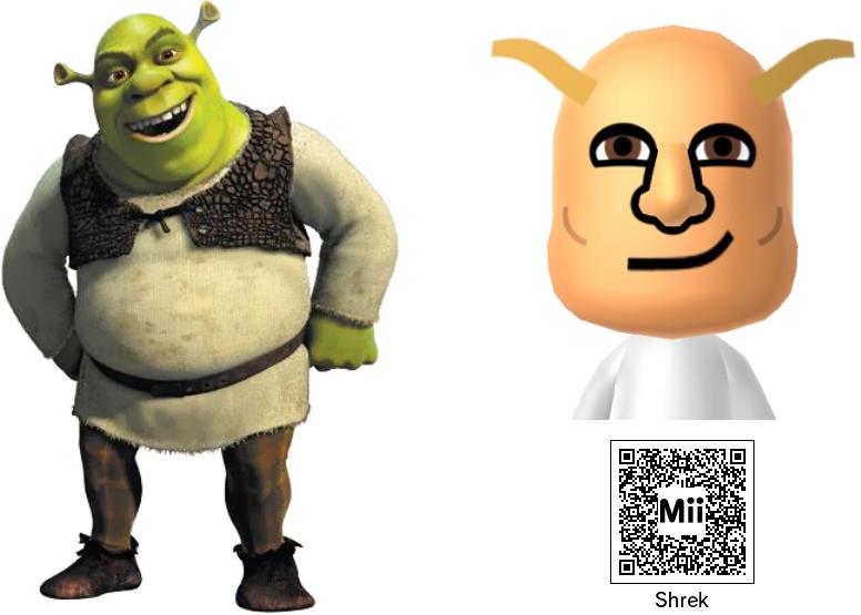 Nintendo Mii Shrek By Supercaptainn On Deviantart