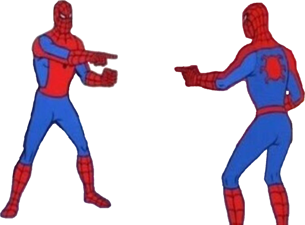 Png Meme Spider Man Pointing At Spider Man By Supercaptainn On