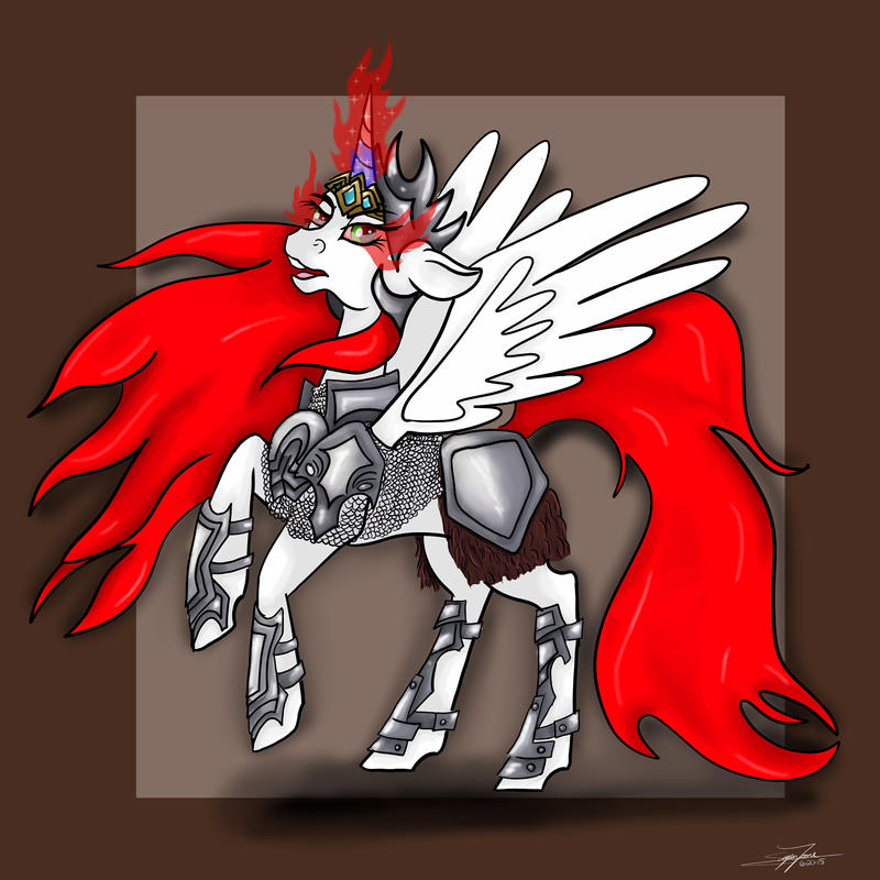 Firemane In Armor - Stream Result by LilWolfStudios