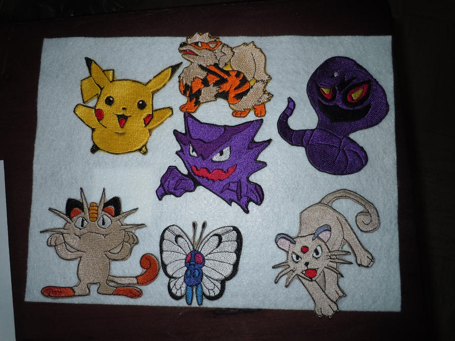 Pokemon Patches New! by LilWolfStudios