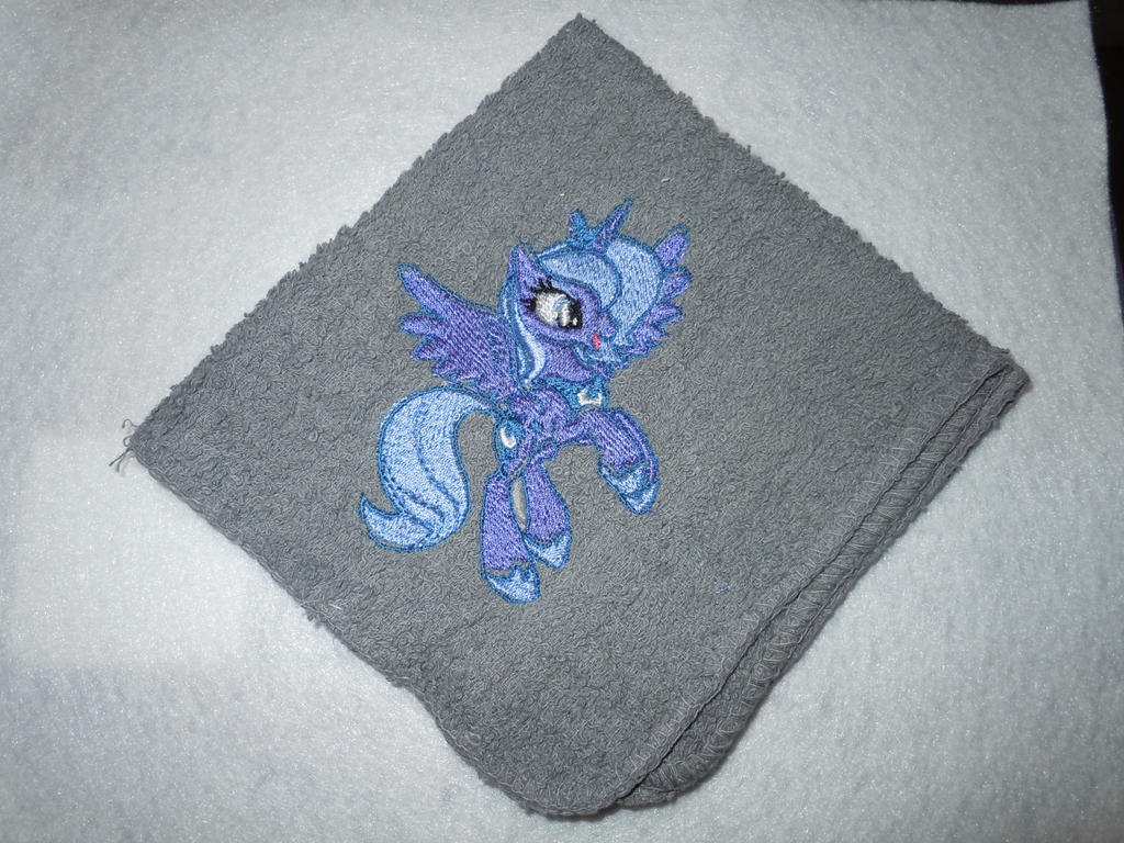 Princess Luna Wash cloth/face cloth by LilWolfStudios
