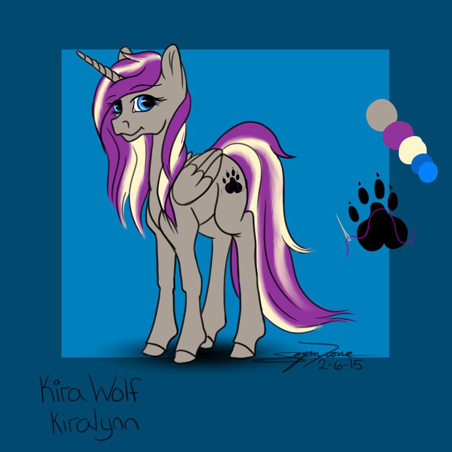 Kira Wolf Pony Reference Sheet by LilWolfStudios