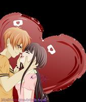 [ Fruits Basket ] Love Notification by Dalhia-Gwen