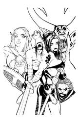 Kade TPB Cover Inks by AllanOtero