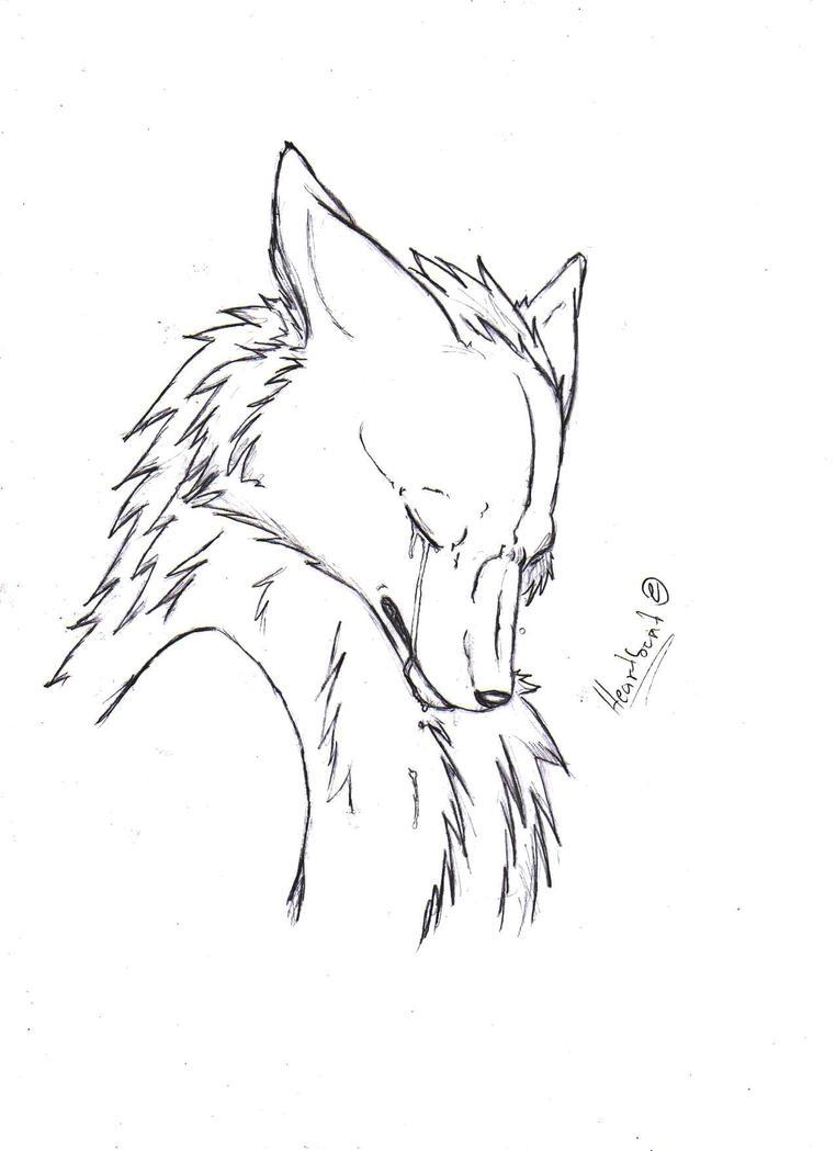 Anime Sad Wolf Base Anime Sad