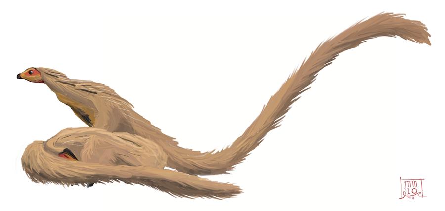 Leaellynasaura's Long Tail by MattMart